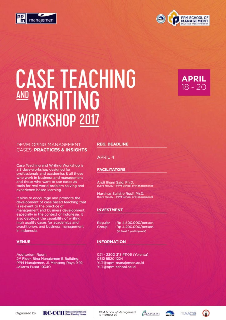 Professional research writing workshop 2017
