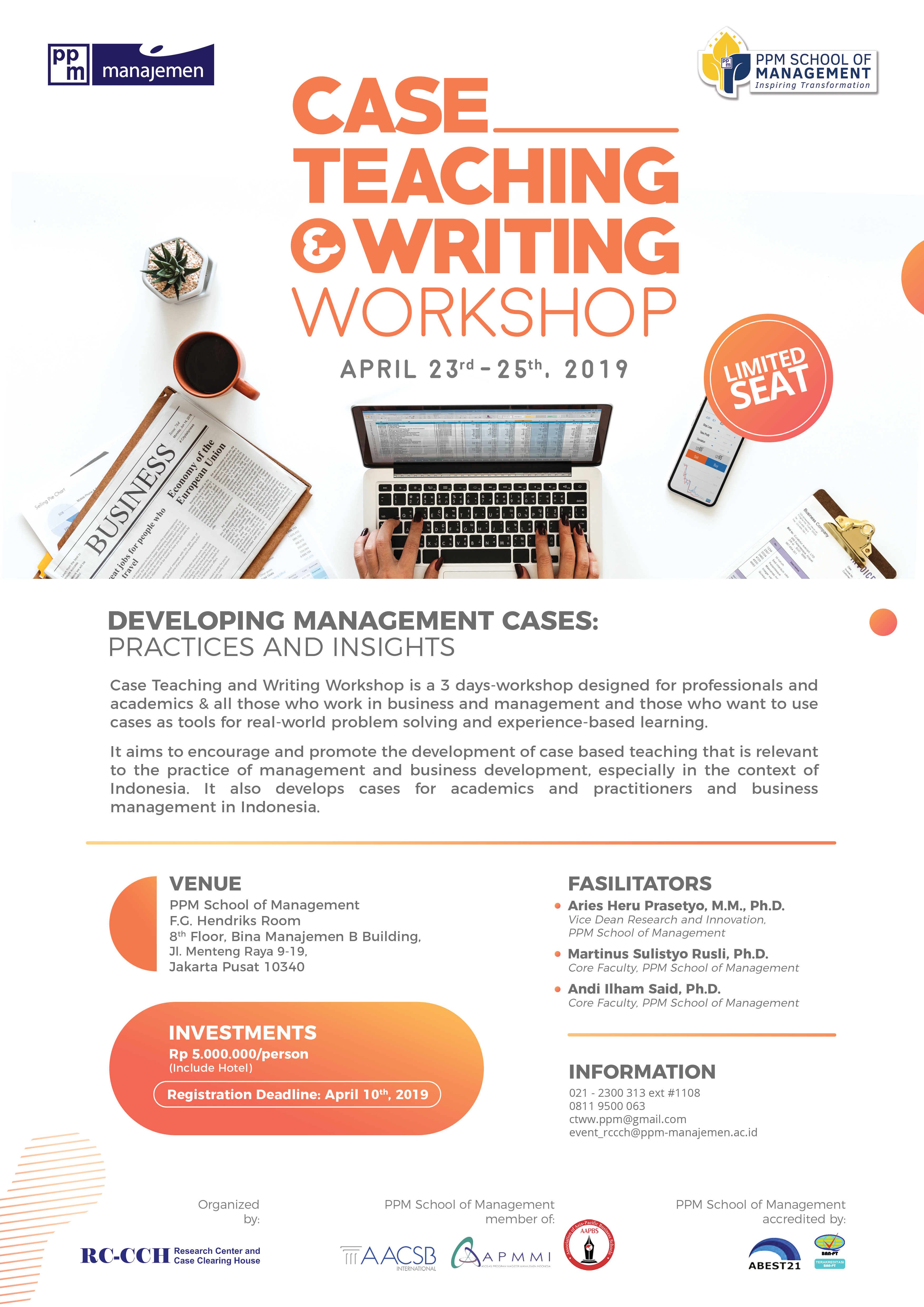 CASE TEACHING AND WRITING WORKSHOP 2019 « Research Center